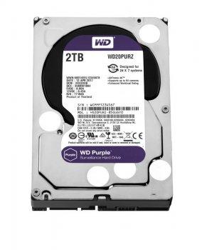 Накопичувач HDD SATA 2.0 TB WD Purple 5400rpm 64MB (WD20PURZ)