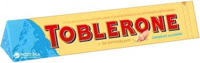 Шоколад Toblerone Молочный с хрустящим миндалем 100 г (7622300710613)