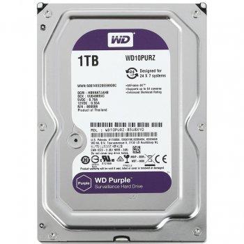 "Жорсткий диск Western Digital Purple 1ТБ 3,5"" SATA III 5400prm 64МB (WD10PURZ)"