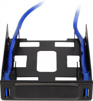 """Кошик з портами Crown Micro USB 3.0 для зовнішнього відсіку 3.5"""" корпусу ПК (CMU3-B3)"""