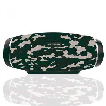Портативна бездротова Bluetooth колонка Hopestar Hopestar H27 10Вт camouflage з вологозахистом IPX6, функцією зарядки пристроїв (H27C)
