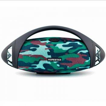 Портативна бездротова Bluetooth колонка Hopestar Hopestar H37 10Вт camouflage з вологозахистом IPX6 (H37C)