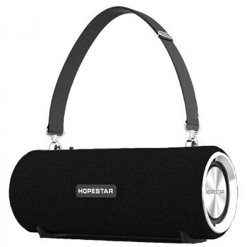Портативна бездротова Bluetooth колонка Hopestar Hopestar H39 10Вт Black з вологозахистом IPX6, функцією зарядки пристроїв і радіо (H39B)