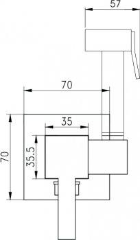 Гигиенический душ со смесителем I.S.A. IDROSANITARIA Black Viola 22685 NER