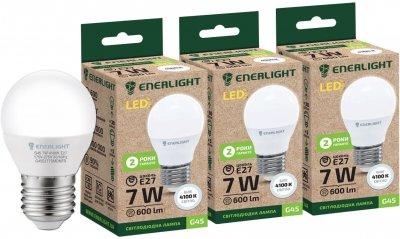 Світлодіодна лампа Enerlight G45 7 W 4100 K E27 3 шт. (G45E277SMDNFRS)