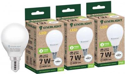 Світлодіодна лампа Enerlight P45 7 W 4100 K E14 3 шт. (P45E147SMDNFRS)