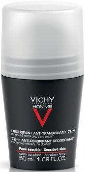 Дезодорант шариковый Vichy Deo Anti-Transpirant 72H для мужчин 50 мл (3337871320362)