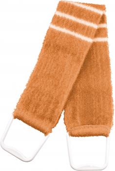 Мочалка масажна банна у вигляді ременя з ручками Titania 9103 Помаранчева (4008576091039_orange)