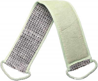 Мочалка банна масажна в формі ременя Titania 7714 Зелена (7714)