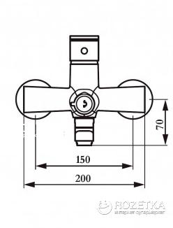 Смеситель для ванны GLOBUS LUX SBT1-208 нержавеющая сталь