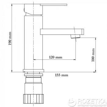 Змішувач для раковини GLOBUS LUX SBQ-101 неіржавка сталь