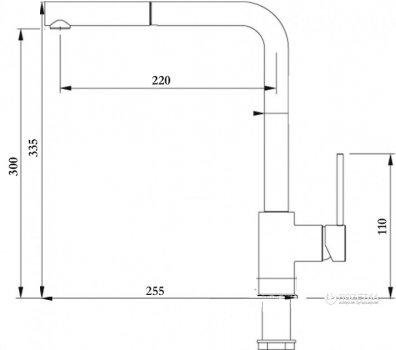 Змішувач кухонний GLOBUS LUX SUS-403 неіржавка сталь