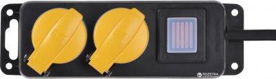 Мережевий фільтр 2E 2 розетки 3 м Black (2E-U02ESPM3)