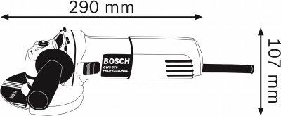 Угловая шлифмашина Bosch Professional GWS 670 (0601375606)