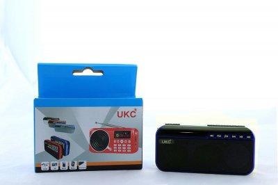 Портативна колонка з ліхтариком UKC SPS U188 працює на 18650 Blue (1001 007121)