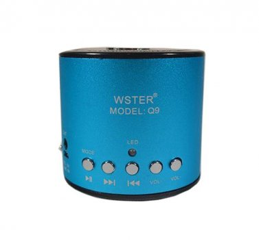 Портативна bluetooth колонка MP3 плеєр WS-Q9 Turquoise (1001 007029)