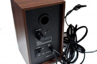 Колонки для ПК комп'ютера Music-F D-9A, коричневі (1001 007588)