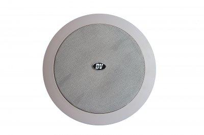 """Потолочный динамик с трансформатором DV audio 8""""+1,5"""" белый (C-8.2)"""