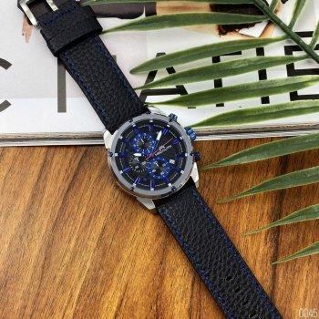 Годинники чоловічі Megalith 8004M Black-Silver-Blue