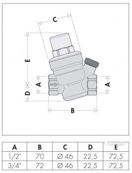 """Редуктор тиску CALEFFI з отвором для манометра 1/2"""" (533441)"""