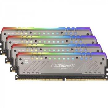 Модуль пам'яті для комп'ютера DDR4 32GB (4x8GB) 3200 MHz Ballistix Tactical Tracer RGB MICRON (BLT4K8G4D32AET4K)