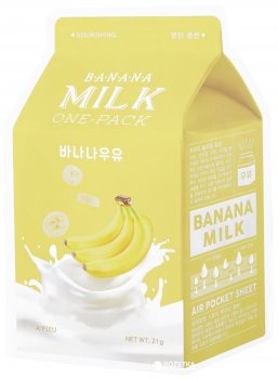 Маска тканевая A'pieu Milk One-Pack с экстрактом банана 21 мл (8806185797573)