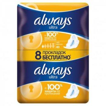Гигиенические прокладки Always Ultra Light 40 шт (8001090378293)
