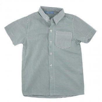 Рубашка для мальчика Турция 231090 бело-зелёный