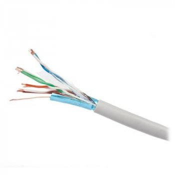 Кабель сетевой Kingda UTP 305м, cat 5e, CU, 4 pairs, 24AWG, PVC, white (KDUT8001)