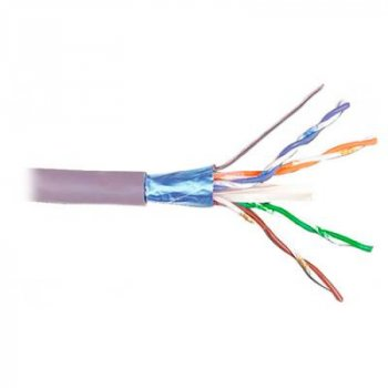 Кабель сетевой Kingda FTP 305м, cat 5e, CU, 4 pairs, 24AWG, LSZH, violet (KDFT8004-LSZH)