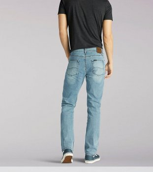 Джинси Lee Regular Fit Straight Leg Winston Світло-блакитні
