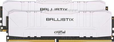 Оперативна пам'ять Crucial DDR4-3000 16384MB PC4-24000 (Kit of 2x8192) Ballistix White (BL2K8G30C15U4W)