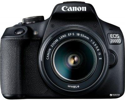 Фотоапарат Canon EOS 2000D BK 18-55mm IS II IS + EF 75-300mm f/4-5.6 III USM Kit (2728C021AA) Офіційна гарантія!