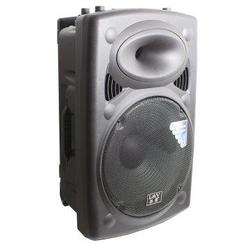 Акустична система LAV PA-150 Black Потужність 500 Вт Bluetooth Радіо з висувною ручкою, 2 мікрофона + пульт дистанційного управління