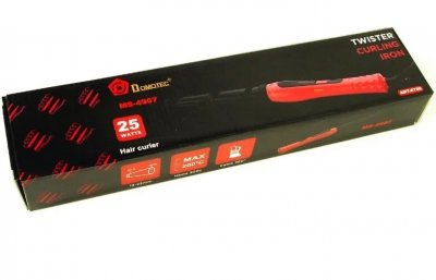 Конусна плойка для волосся DOMOTEC MS-4907 Чорна/Червона (3077)
