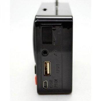 Портативная колонка часы MP3 плеер WSTER WS-1513 Clock Черная/Красная (2923)