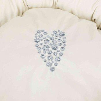 Лежак для собак і кішок Trixie Pet's Home d50 см Сірий / кремовий з сердечком (4011905374895)