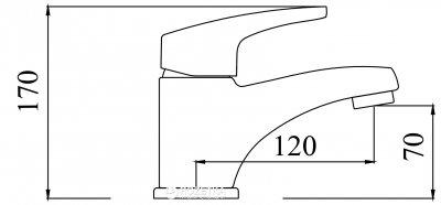 Смеситель для раковины Silver АРГУС SLBN2041z