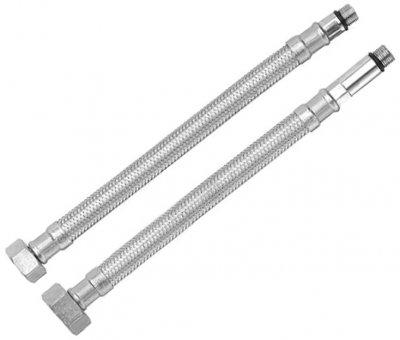 """Комплект шлангів для змішувача RUBINETA M10x1/2"""" 45 см (довга/коротка голка) 617045"""