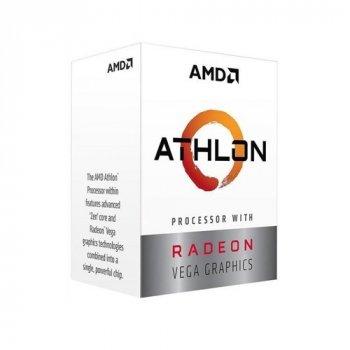 Процессор AMD AM4 Athlon 200GE 2 ядра 3.20GHz YD200GC6FBBOX Radeon Vega 3 35W BOX