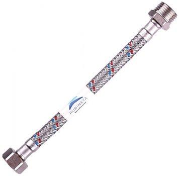 """Шланг водопровідний RUBINETA 1/2""""x1/2"""" 300 см В-З гнучкий 611300"""