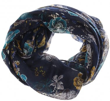 Снуд H&M 3904114 One Size Темно-синий с рисунком (PS2000000888767)