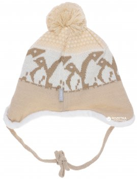 Зимняя шапка с завязками Lenne Enel 18373/505 50 см Бежевая (4741578206055)