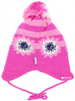 Зимняя шапка с завязками Lenne Neina 18378/264 48 см Розовая (4741578206925)