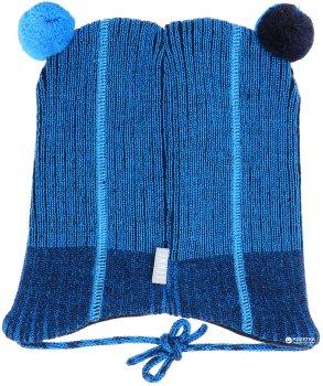Зимняя шапка с завязками Lenne Reed 18374/229 48 см Темно-синяя (4741578206086)