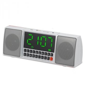 Портативная Bluetooth стерео колонка WSTER WS-1515 BT Серая (3163)