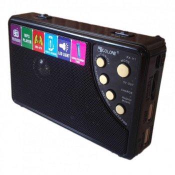 Радіоприймач Golon RX-111 акумуляторний колонка з функцією Power Bank радіо чорний (BJ001)