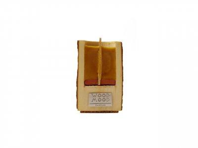 Свічка в дереві компактна Rocky S від WOOD MOOD