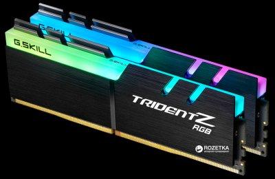 Оперативная память G.Skill DDR4-3000 32768MB PC4-24000 (Kit of 2x16384) Trident Z RGB (F4-3000C16D-32GTZR)