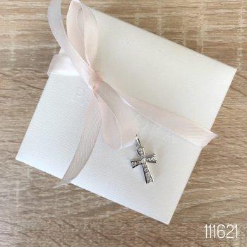 "Кулон Miss Odri ""Крестик"" женский серебристый + подарочная упаковка 111621"